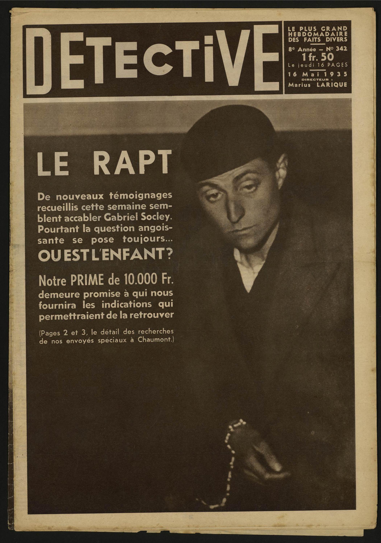Détective Le Rapt Volume 342 1935