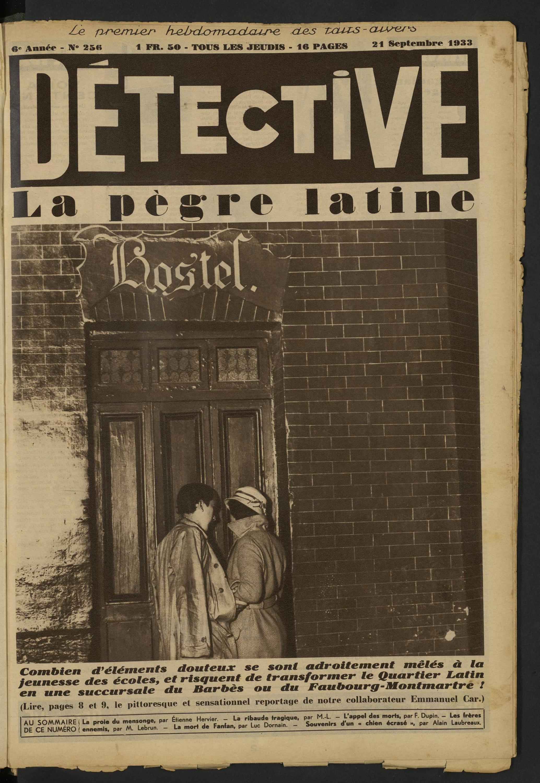Détective La Pègre Latine Volume 256 1933