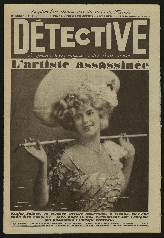 Détective L Artiste Inée Volume 100 1930