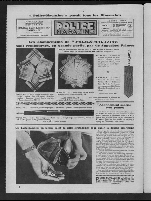 Police Magazine Volume 7 1931 Page 2 Criminocorpus